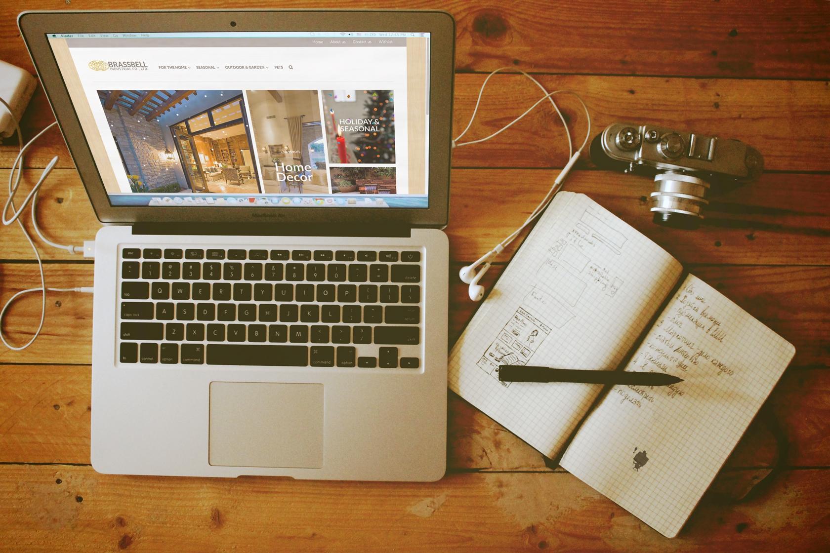 Brassbell傢俱飾品網頁設計 自適應網頁設計
