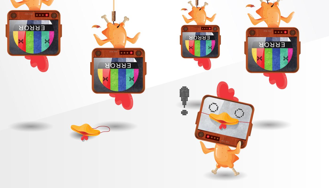 防呆雞平台網站 吉祥物設計